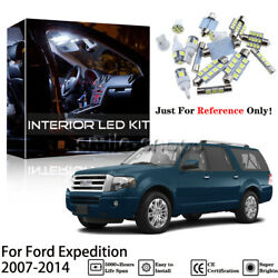 12Pcs White Reverse + Tag + Interior LED Light Fit For 2007-2014 Ford Expedition
