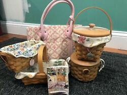 Longaberger Horizon Of Hope Lot Of 4 Liners And Protectors Free Purse