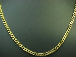 835 Silver Curb Chain / Necklace/gold Plated / Real Silver/20,4g/48,7 Cm