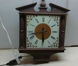 Lux Brown Wood-look Plastic Decorative Electric Movement Wall Clock