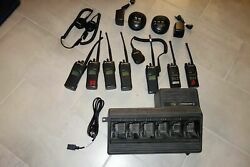Set Of 7 Motorola Xts1500 2-way Radios And Ht1250 With Accessories