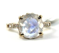 Round Fire Opal And Diamond Halo Solitaire Ring 14k Rose Gold 4.40ct