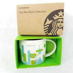 Starbucks You Are Here Collection Seattle Retired City Mug Nib W/ Tag Green Blue