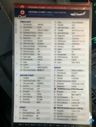 Cessna 210 M Turbo Quick Reference Checklists By Qref 2 Card Set P/n Ce-t210m-2