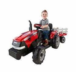 Peg Perego Ride On Tractor Trailer Kids Toy 2 Speed Battery Powered 12 Volt New