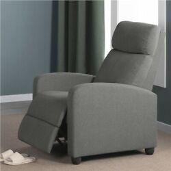 Fabric Recliner Chair Single Modern Sofa Home Theater Seating for Living Room