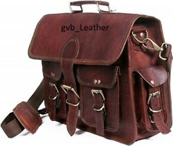 Men Genuine Leather Classy Waxed Laptop Messenger Handmade Briefcase Bag Satchel