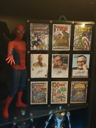 9 Signed Stan Lee Trading Cards Marvel Conan Spiderman Beginnings Silver Age etc