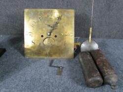 Antique W.curtis Exeter English Brass Tall Case Grandfather Clock Face Andmovement
