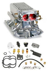 Holley 550-710 Small Block Chevy Polished Stealth Ram Multi-port Power Pack Kit