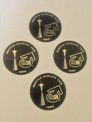 1962 Seattle Worlds Fair Space Needle Century 21 Collectible Table Coasters