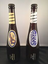 Collectible Coors Beer Baseball Bat Bottles 18oz Set Of Two Limited Edition Rare
