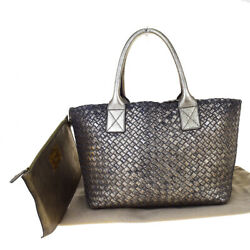 Auth BOTTEGA VENETA Limited Intrecciato Hand Bag Vintage Design Leather 46R162
