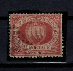 [p01] San Marino / 1894 National Coat Of Arms Used-signed Sassone 15 150andeuro
