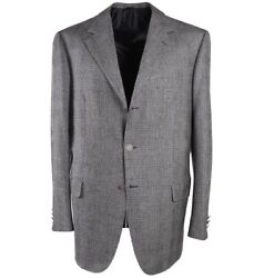 Nwt 5995 Brioni Black And Gray Glen Plaid Winter Flannel Wool Suit 42 R