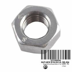 Nos Sea-doo Special Nut 5/16-24 Stainless Lh Left Hand Thread Oem Part 211100034