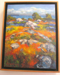 Steven Armstrong Painting Stones And Camas Acrylic On Canvas Landscape Signed
