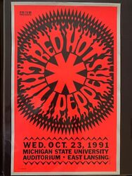 Red Hot Chili Peppers Original Concert Poster Gary Grimshaw
