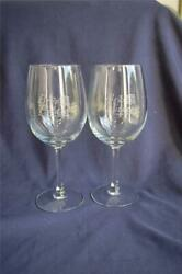 2 Bryand039s Estate Vineyard And Winery Wine Glasses Doors Logo 10 Ounce