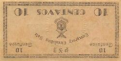 Philippines 10 Centavos 1942 S 573 Inverted Back Error Uncirculated Banknote Bj9