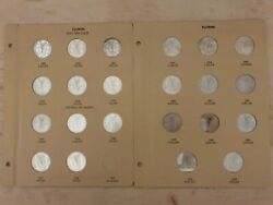 Set Of All Irish Florin Coins 1928 - 1968 In Folder ( Except 1943 coin )