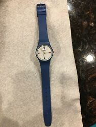 4 Flags Swatch Ladies Collectible 1984 Watch Very Rare Blue Band