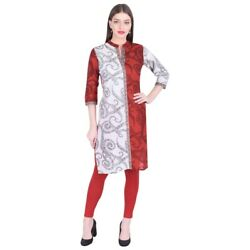indian new kurtis bollywood designer kurta women long tunic top pakistani red XL