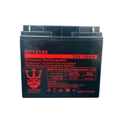 Adt Security Alarm 4520615 12v 18ah Sla Replacement Alarm Battery By Neptune