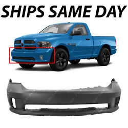 New Primered - Front Bumper Cover For 2013-2018 Dodge Ram 1500 Sport And Express