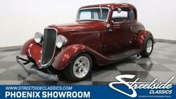 1933 Ford 5-Window Coupe Hot Rod V8 Manual Maroon Gray Classic Vintage Collector Tri-Power Receipts