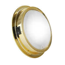 Brass Led Interior Dome Light W/ On-off Switch 6 Inches Cool White Fo-2627-1
