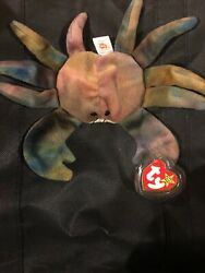 Ty Beanie Babies Claude The Crab Rare Retired All Caps Error Pvc 1st Edition