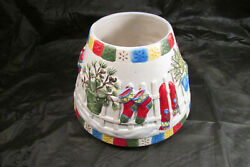 Yankee Jar Candle Lg Shade Winter Christmas Snow Clothes Mittens Pine Scarf Hat