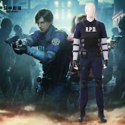 Resident Evil 2 Remake Biohazard Re2 Leon Scott Kennedy Cosplay Costumes Outfit