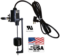Vertical Float Switch - 20 Foot - 1 To 6 Pumping Range - N.o. - 1 Hp @ 120 Vac