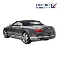 Bentley Continental Gt Convertible Top And Glass Window Black Twillfast 2007-2017