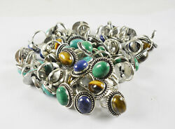 Green Turquoise And Mix Gemstone Ring Handmade Ethenic Jewelry Wholesale Lot Rings