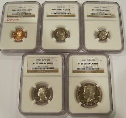 1992-s Proof69 Ultra Cameo Ngc Set One Cent,nickel,dime,quarter And Half Set119