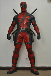 LIFE SIZE DEAD POOL STATUE ACTION FIGURE