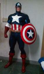 LIFE SIZE CAPTAIN AMERICA STATUEACTION FIGURE