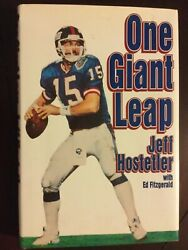 Jeff Hostetler One Giant Leap 1st Edition New York Football Giants Ed Fitzgerald