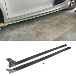 For Audi R8 08-15 Side Skirts Extensions Protector Refit Factory Carbon Fiber