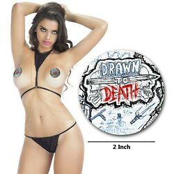 Custom Pasties Drawn to Death Nipple Cover Sticker for Pop Socket Phone Car $11.05