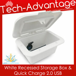 Bn Boat Motorhome Security Phone Wallet Glove Box Storage With Quick Usb Charger