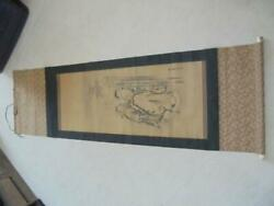 Japanese Hanging Scroll Kakejiku Tanyu Kano Vintage Collector Rare Antique Retro