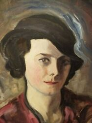 Superb self-portrait - JEANNE LAGANNE - 1930's - French Art