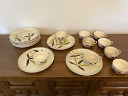 Stetson Vintage Mid Century China Snack Plates With Cups- 11 Plates/9 Cups- Rare