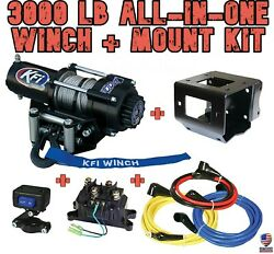 3000 Lb Kfi Winch/mount Combo - And03902-08 Yamaha Grizzly 660 4x4