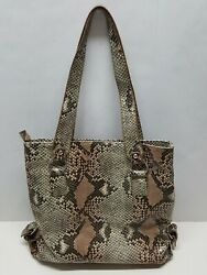 STYLE & CO SLOUCHY Snake Skin Design Faux Leather Hobo Bucket Shoulder Bag
