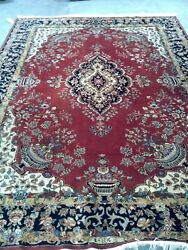 Make Offer Antique 8,000 Rare Fine Wool Red Rug Signed Piece Asian